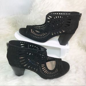Vince Camuto Black Lavinnia Perforated Bootie